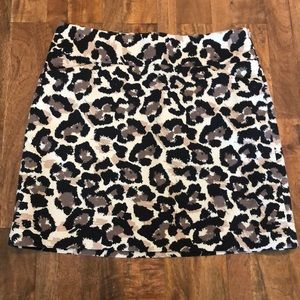 Loft Leopard Mini Skirt
